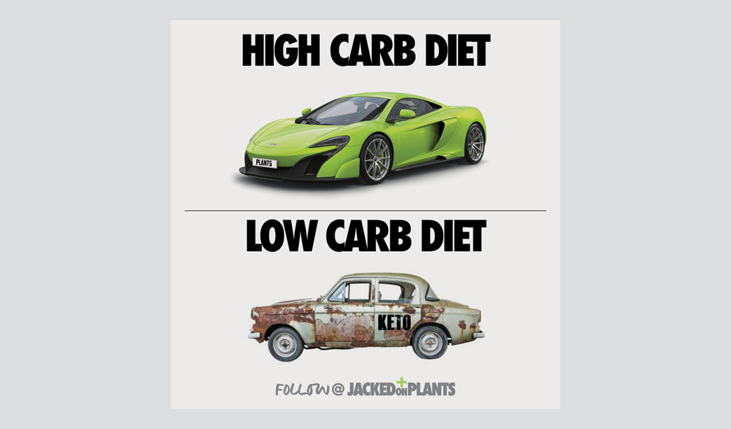 high carb jacked on plants